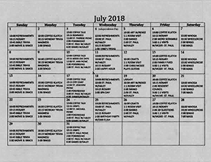 July 2018 Activities